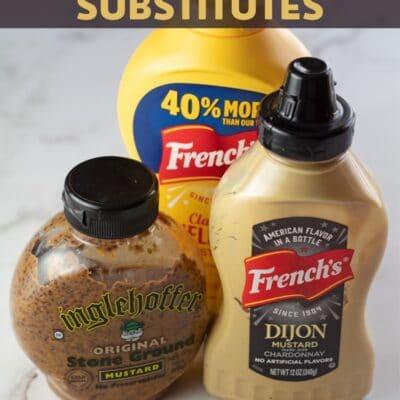 Dijon mustard substitute pin with text header.