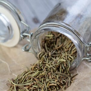 Dried rosemary substitute for fresh rosemary in cooking.