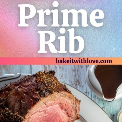 Boneless prime rib roast pin with 2 images and text divider.